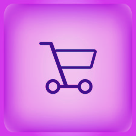 Shopping trolley, cart icon Vector illustration. Illustration