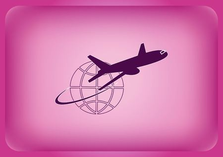 Aircraft icon Vector illustration.