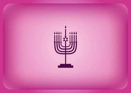 Star of David Jewish synagogue icon Vector illustration on color background. Ilustração