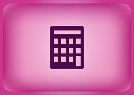 Calculator icon Vector illustration on color background.