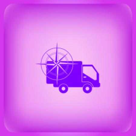 Auto icon Vector illustration on color background. Vettoriali