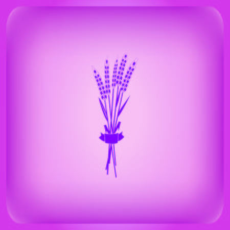 Wheat product icon on purple background Illustration