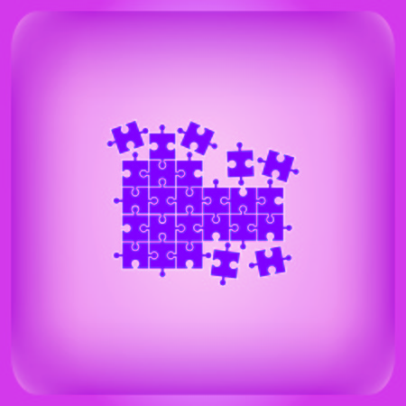 Puzzle icon Vector illustration on color background.