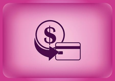 A money icon isolated on plain violet background