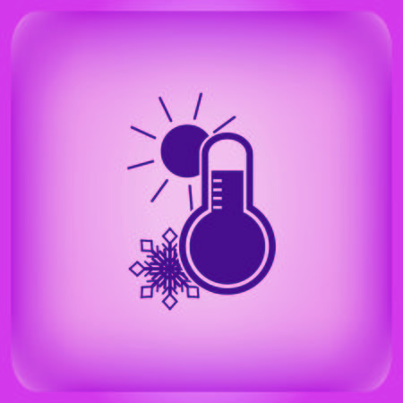 Thermometer icon Vector illustration on color background.