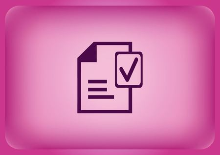 Document with check mark symbol vector icon.