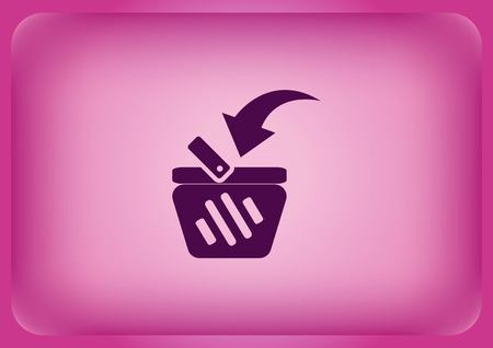 Shopping trolley, cart icon, On line sale icon isolated on plain violet background