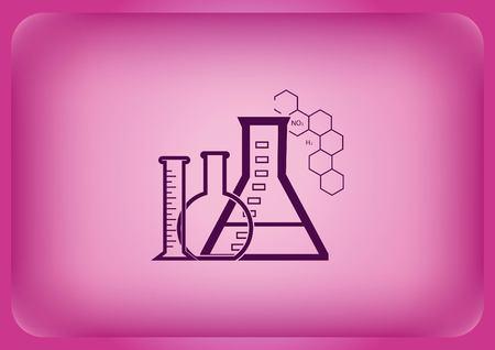 Laboratory equipment, chemistry, science icon 일러스트