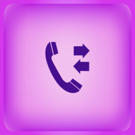 phone communication icon Vector illustration on color background.