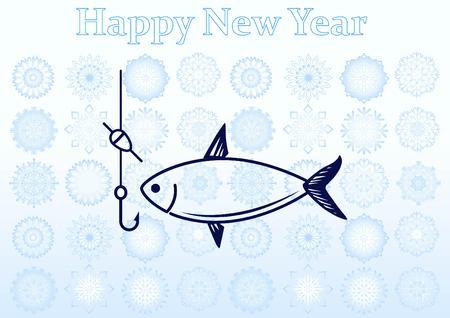 Fishing icon. Vector illustration. Ilustração