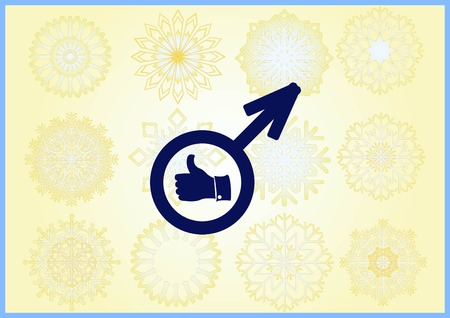 healthy man to cure prostatitis Urology icon Stock Vector - 109921304