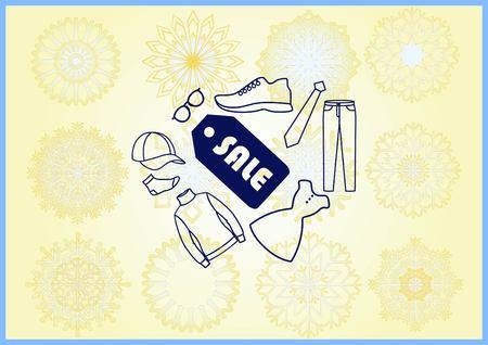 SALE tag icon, vector illustration. Flat design style Illustration