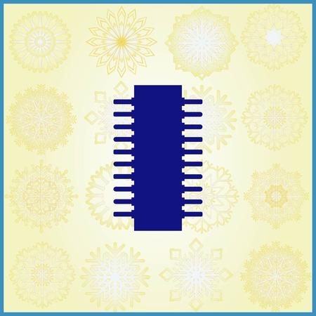Circuit board, technology icon, vector illustration. Flat design style Standard-Bild - 109916519