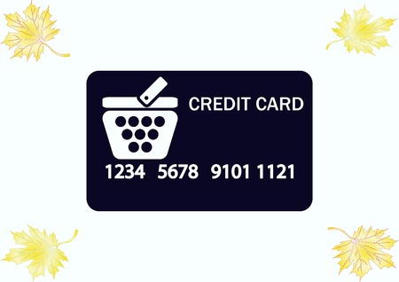 Corporate card icon, credit card icon, vector illustration. Flat design style