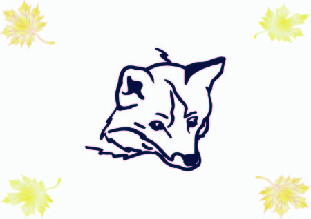 Fox icon, vector illustration.