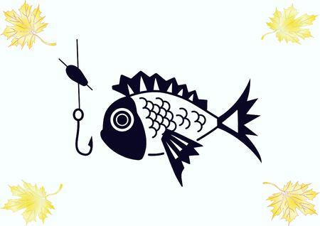 Fishing icon. Vector illustration. Vektorové ilustrace