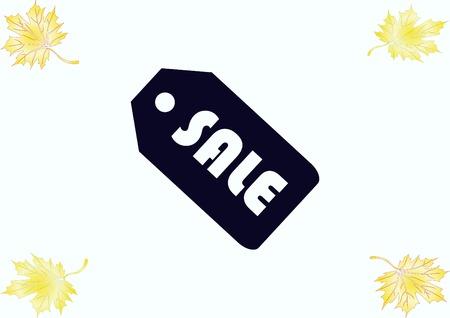SALE tag icon, vector illustration. Flat design style Çizim