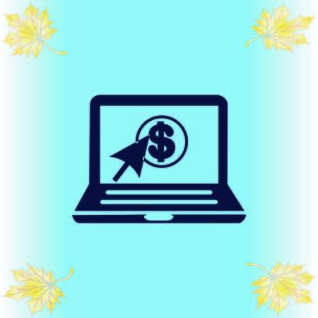 Internet banking icon. Çizim
