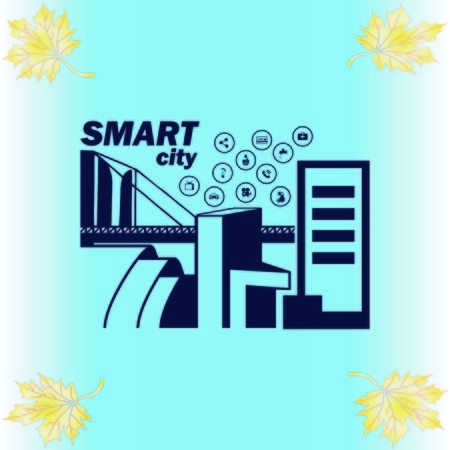 Smart city icon. Collection modern trend concept.  vector illustration symbol Illustration