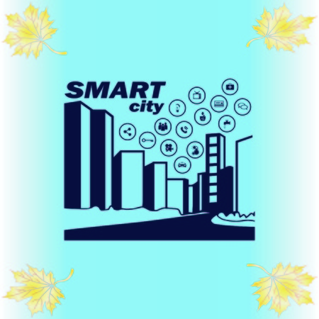 Smart city icon. Collection modern trend concept.  vector illustration symbol Ilustrace
