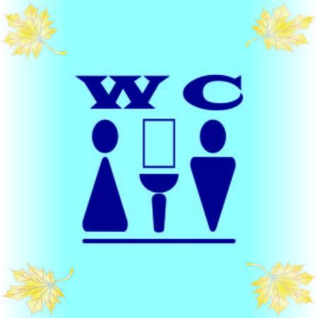 Entrada de símbolos al icono de baño Ilustración de vector