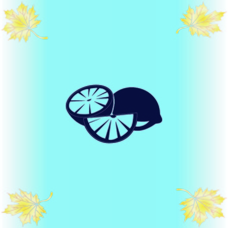 Lemon icon. Fruit icon.