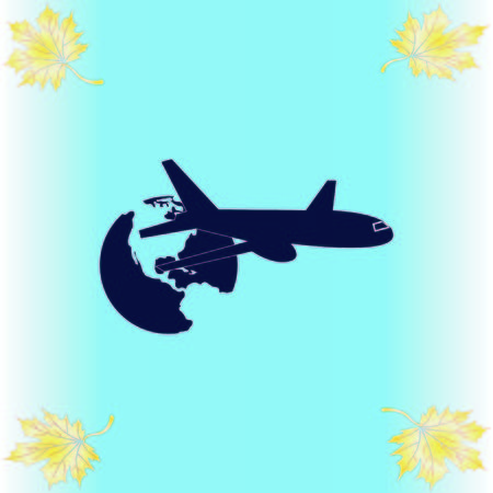 Aircraft icon Ilustrace