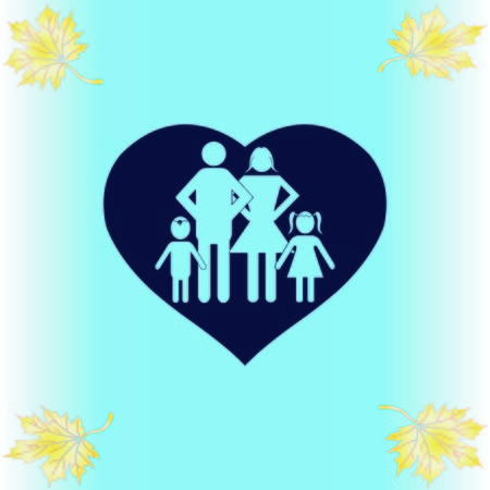 Human heart, Love family icon Ilustrace