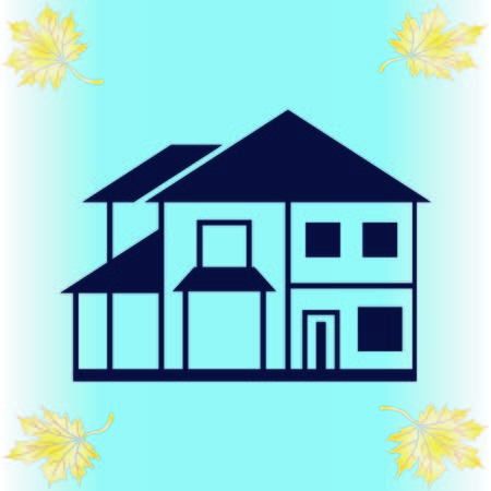 House, building doodle , City silhouette icon. Vector Illustration. logo