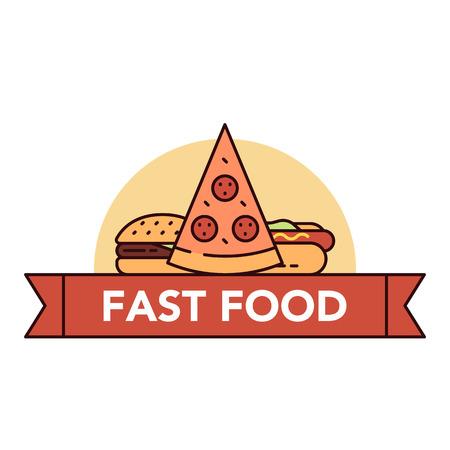 Pizza illustration.