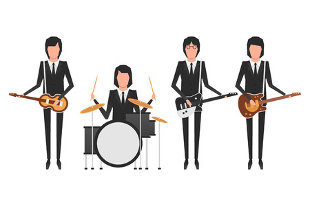 Editorial illustration of the Beatles band members Stock fotó - 80188992