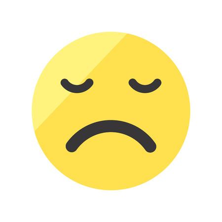 Set of emojis on isolated white background. Illustration