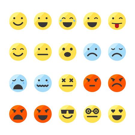Set of emojis on isolated white background.