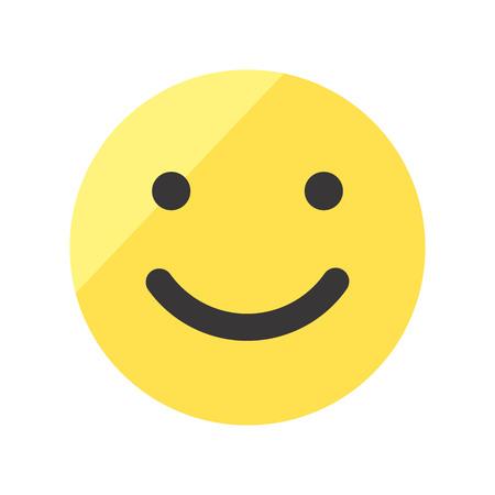 Coloured smile face vector icon. Emoji smile.