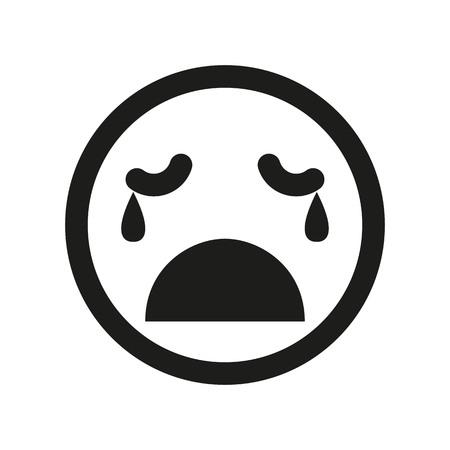 Farbige weinende smiley-vektorikone. Emoji-Smiley Standard-Bild - 82741850
