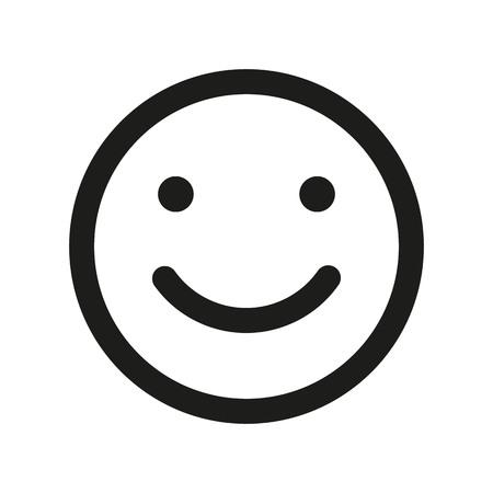 Smile face vector icon. Emoji smile. Vektorové ilustrace