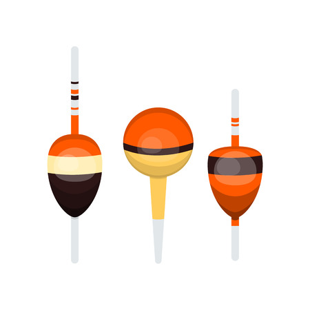 Vector illustrations set of fishing floats