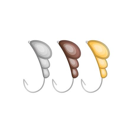 fishhook: Vector illustrations set of fishhooks Illustration