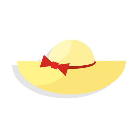 Panama hat. Icon on isolated background Illustration