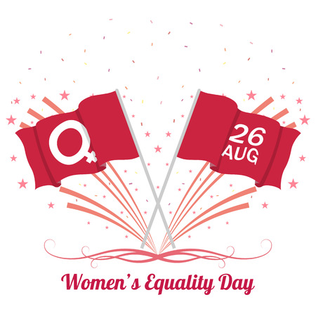 The equality day of women. Vector illustration on isolated white background. Illustration