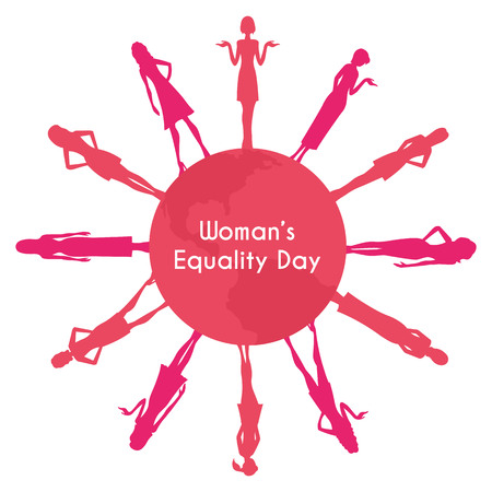 The equality day of women Vector illustration
