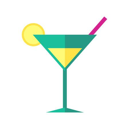 Bright coloured cocktail vector illustration. Illustration
