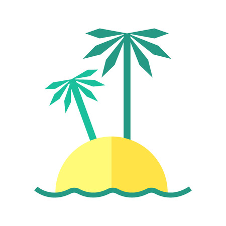 seacoast: Coloured summer illustration of an Island