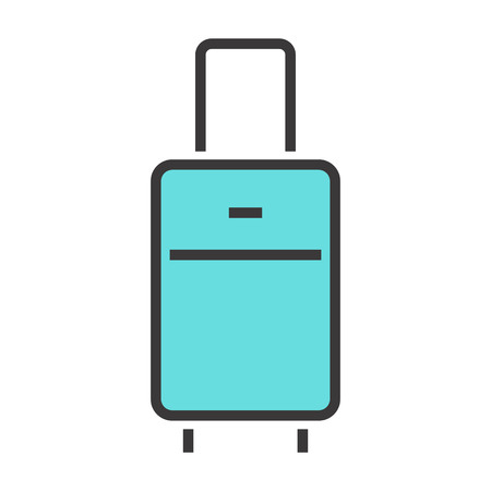 case: Vector illustration of a luggage.