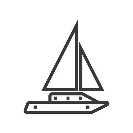 ヨット ベクトル画像。  イラスト・ベクター素材