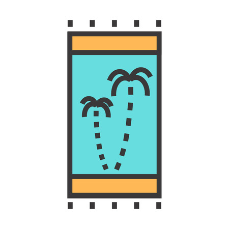 toweling: A beach towel vector illustration