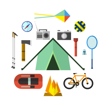Vector illustration of camping outdoor activity. Great for web and mobile apps. Illustration