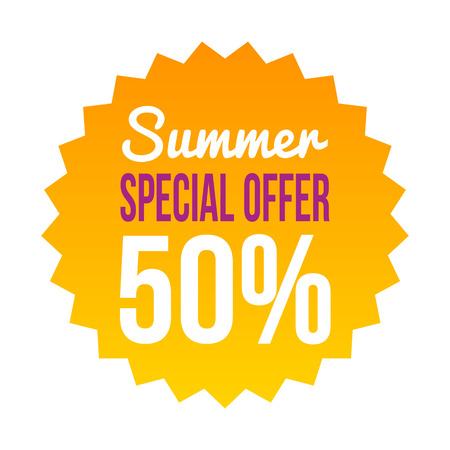 applicable: Special summer offer sales discount vector picture for business trade purposes applicable for web and mobile apps.