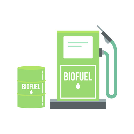 Biofuel illustration. Alternative and environmental friendly technology and lifestyle.