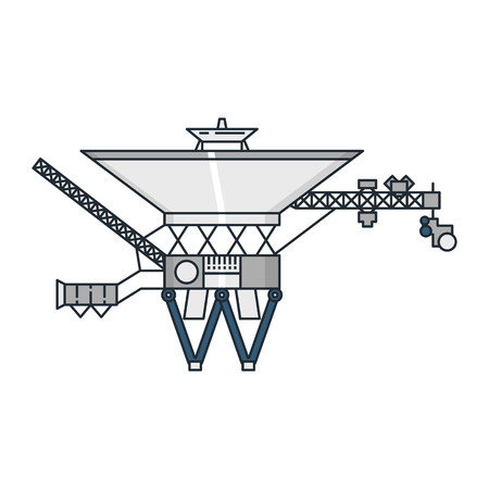 configurations: Vector illustration of a space station on white background. Space topic. Illustration